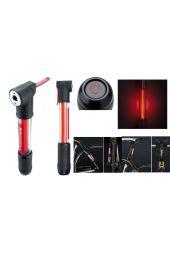 Tlačilka Topeak MiniRocket iGlow svetloča rdeča